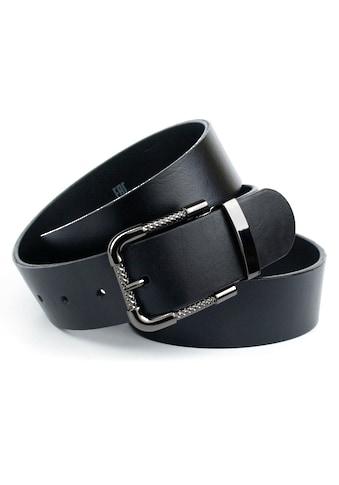 Anthoni Crown Ledergürtel, mit Schließe in Schwarz Metallic kaufen
