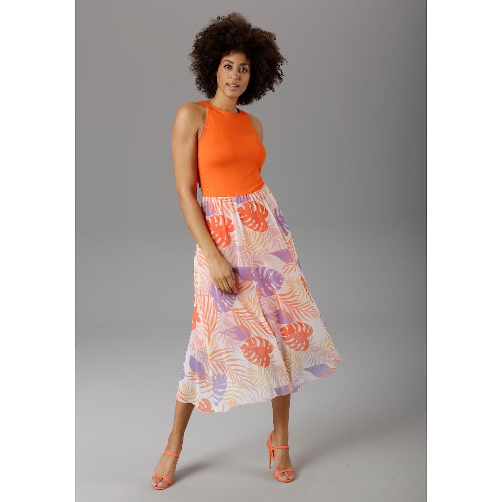 Aniston SELECTED Sommerkleid, in modischer Knallfarbe - NEUE KOLLEKTION
