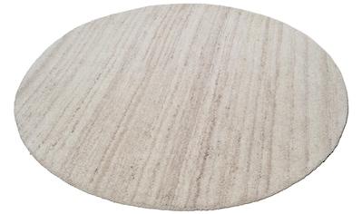Wollteppich, »Royal Berber Uni«, THEKO, rund, Höhe 18 mm, handgetuftet kaufen