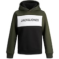 Jack & Jones Junior Kapuzensweatshirt »JJELOGO BLOCKING SWEAT H«