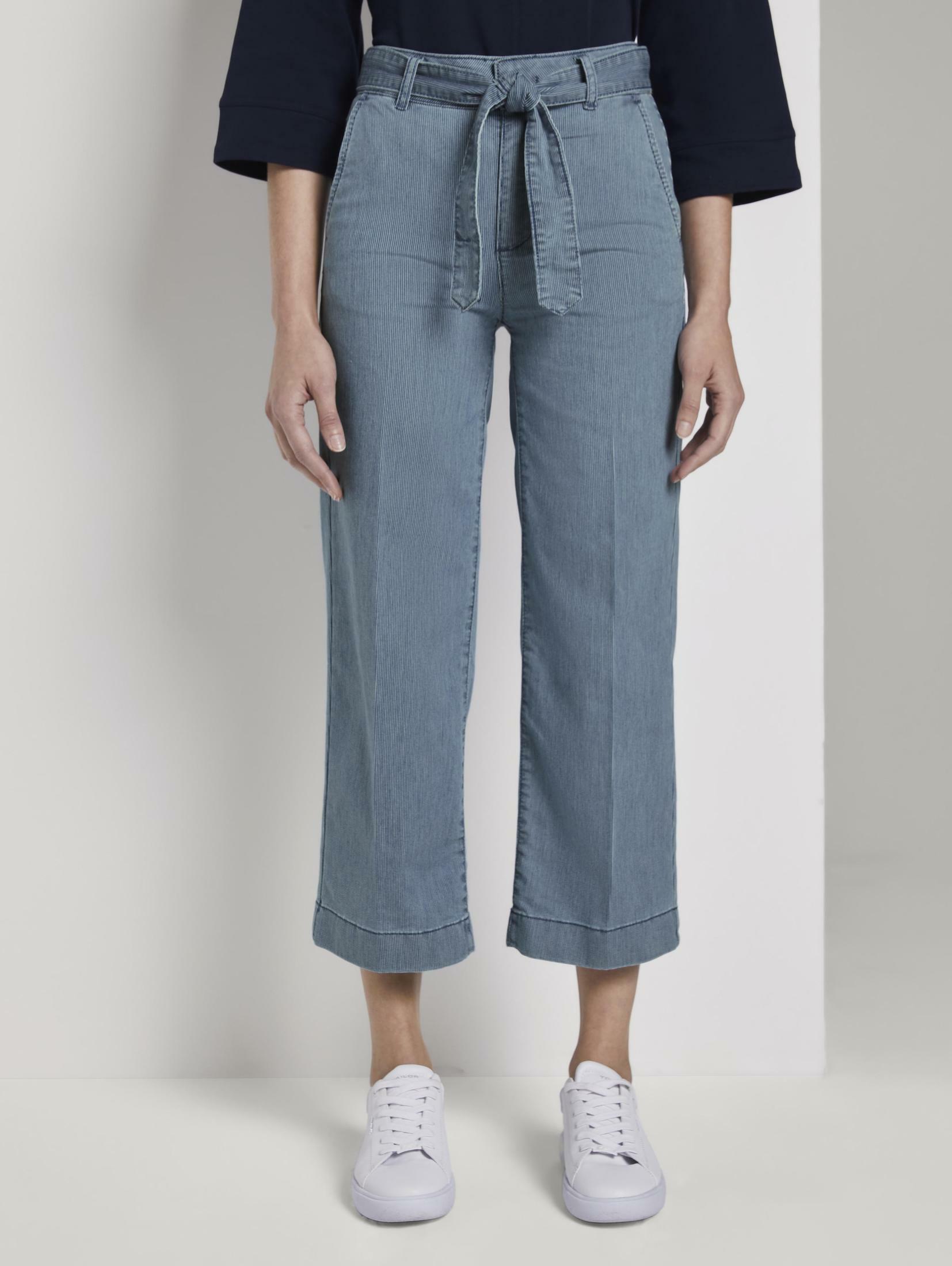 tom tailor -  7/8-Jeans Culotte mit Bügelfalte