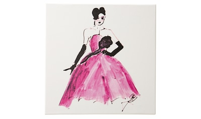Guido Maria Kretschmer Home&Living Leinwandbild »Elegante Lady«, 50/50 cm, gerahmt, Keilrahmen kaufen