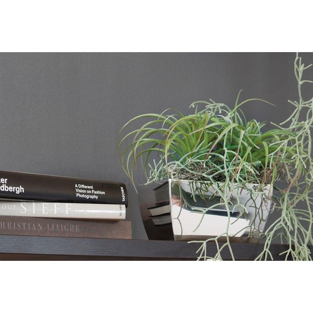 Fink Übertopf »CUBE, silberfarben«, (1 St.), dekorativer Blumentopf, rechteckig, aus Metall, hochwertige Verarbeitung, In- und Outdoor geeignet, Wohnzimmer