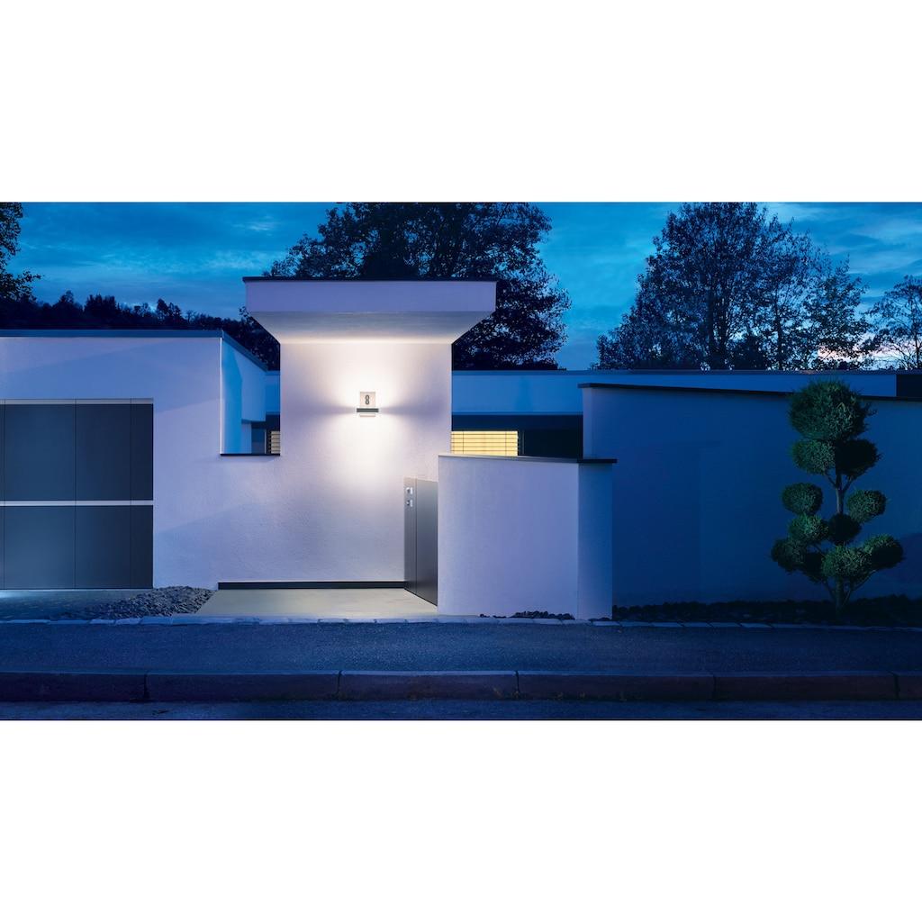 steinel Außen-Wandleuchte »L 820 LED iHF«, LED-Board, 1 St., Warmweiß, 160° Erfassungsbereich, max. 5 m Reichweite, Zeiteinstellung von 5 Sek. - 15 Min., Grundlichtfunktion, 4h Dauerlicht, Softlichtstart, Gehäuse aus Aluminium