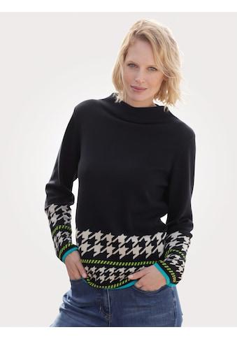 Mona Stehkragenpullover, mit attraktiver Bordüre kaufen