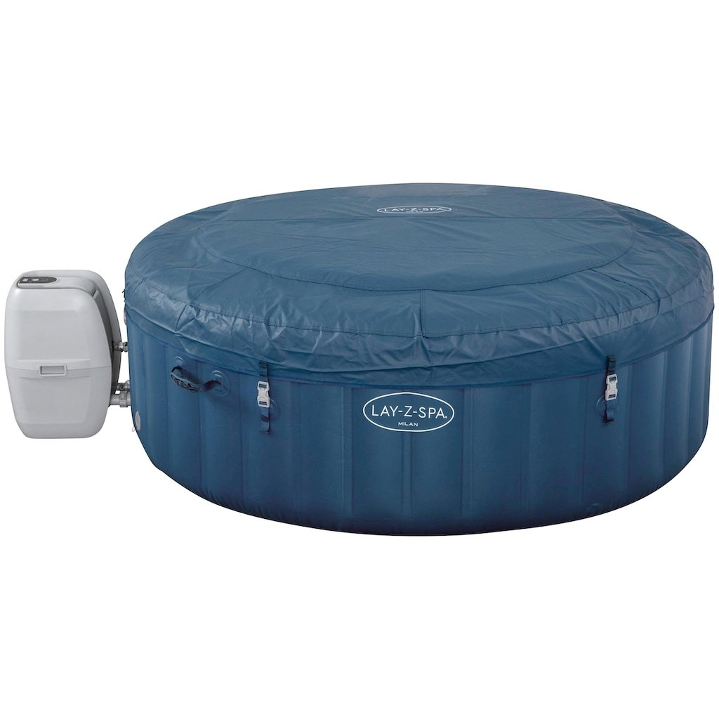 Bestway Whirlpool »LAY-Z-SPA® Milan AirJet Plus™«, ØxH: 196x71 cm, für bis zu 6 Personen, mit App-Steuerung