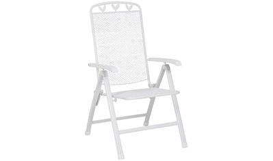 GREEMOTION Klappstuhl »Toulouse«, Stahl, verstellbar, klappbar, weiß kaufen