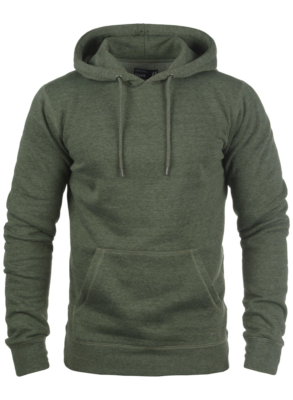 Solid Hoodie Bert   Bekleidung > Pullover   Grün   Fleece - Metall   Solid