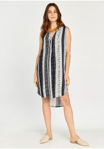 Apricot Druckkleid »Batik Stripes Curved Hem Dress«, mit Knöpfen kaufen