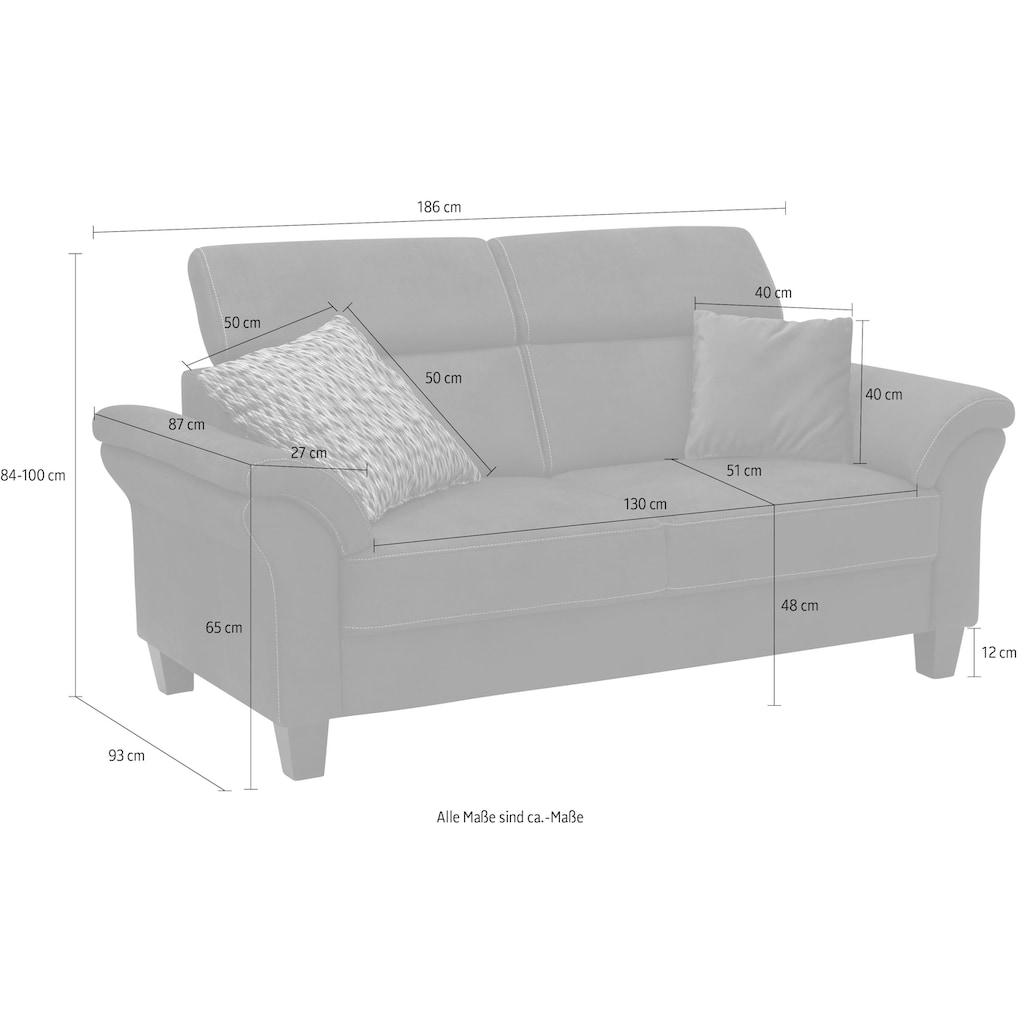 Home affaire 2,5-Sitzer »Arngast«, inklusive Kopfteilverstellung, Federkern