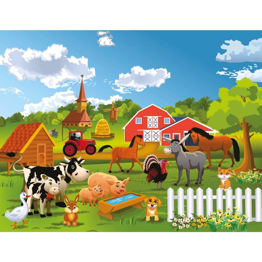 Papermoon Fototapete »Farm, Bauernhof«
