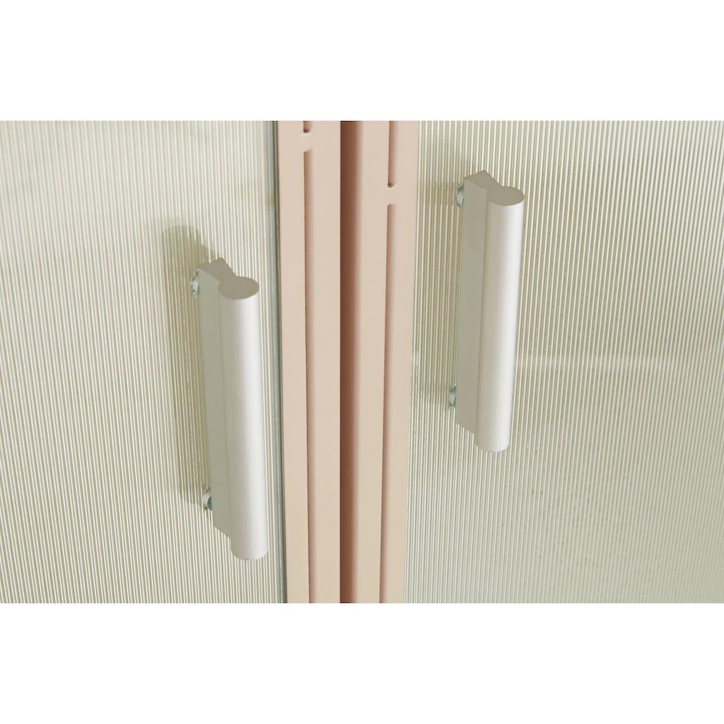 LeGer Home by Lena Gercke Vitrine »Almira«, Zeitloses Design, Türen mit Riffelglas, in 2 Farben erhältlich