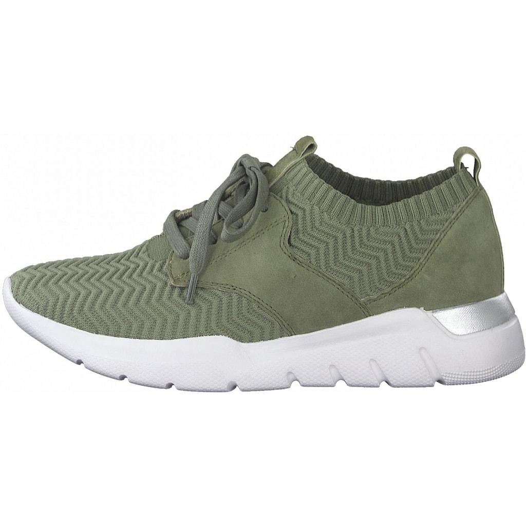Jana Sneaker »Leder/Textil«