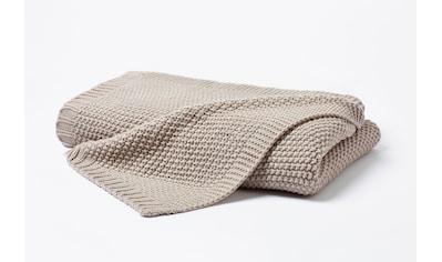 Primera Wohndecke »Strick«, in schlichten Unifarben kaufen