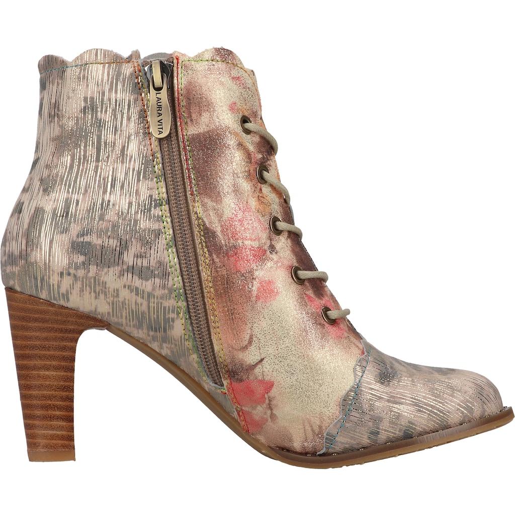 LAURA VITA High-Heel-Stiefelette »Leder/Textil«