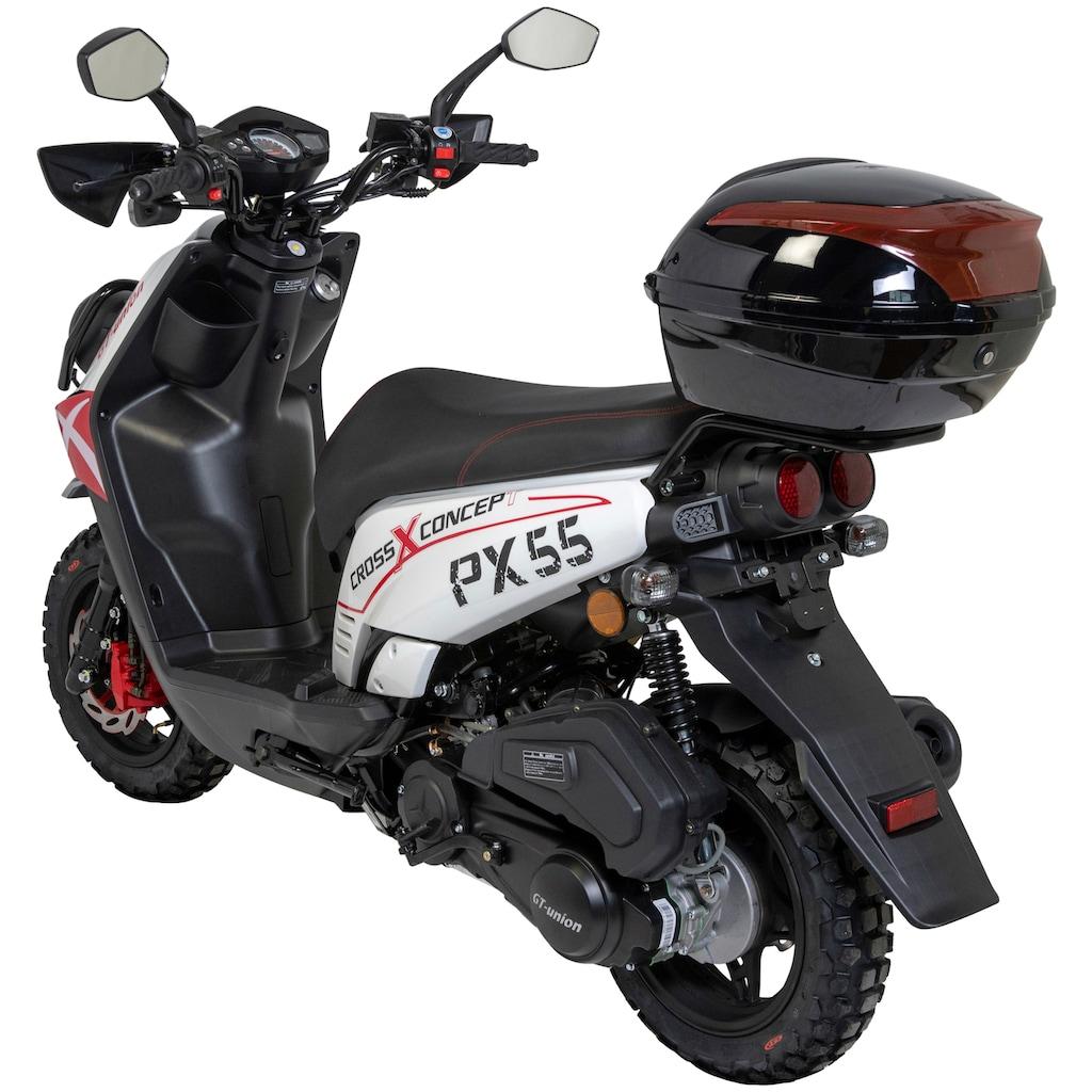 GT UNION Mofaroller »PX 55 Cross-Concept«, 2,5 PS, inkl. Topcase