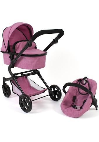 CHIC2000 Kombi-Puppenwagen »Lia, Jeans pink«, mit Puppen-Autositz kaufen