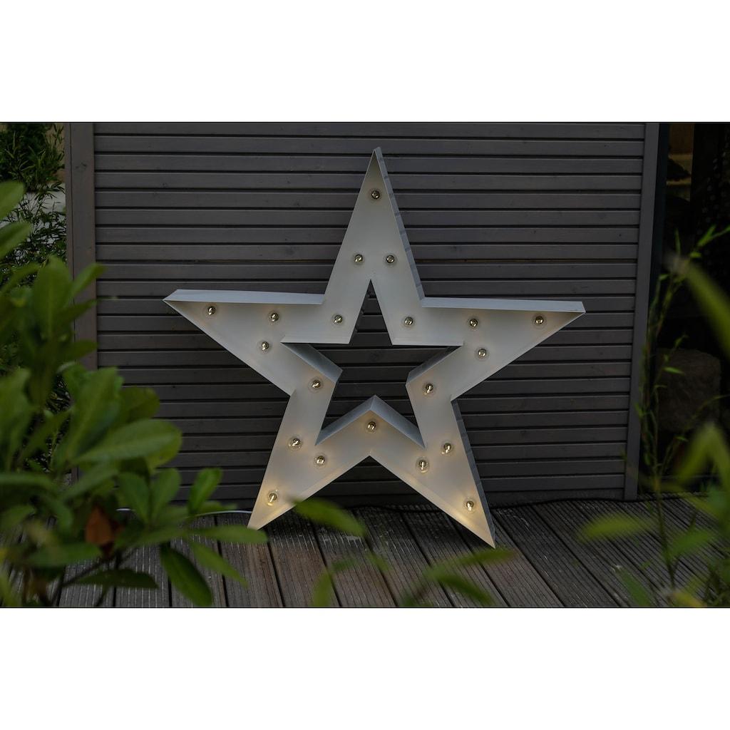 MARQUEE LIGHTS LED Dekolicht »Stern«, E14, 1 St., Warmweiß, Wandlampe, Tischlampe Star mit 20 festverbauten LEDs - 122cm Breit und 122cm hoch