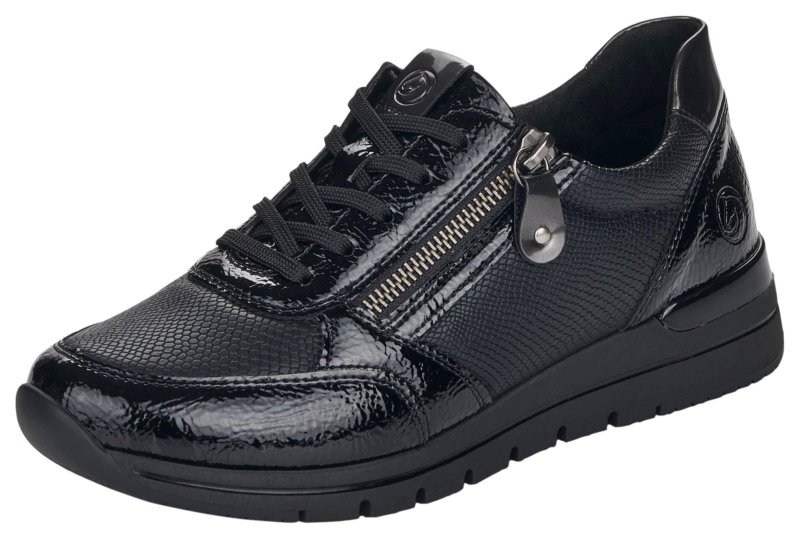remonte -  Sneaker, mit Reptilprägung
