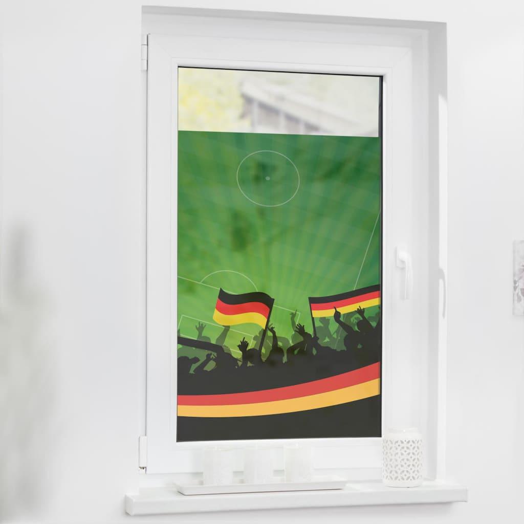 LICHTBLICK ORIGINAL Fensterfolie »Fensterfolie selbstklebend, Sichtschutz, Deutschlandfahne - Grün«, 1 St., blickdicht, glattstatisch haftend