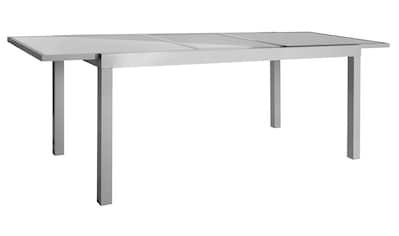 MERXX Gartenmöbelset »Amalfi«, 7 - tlg., 6 Hochlehner, Tisch 90x140 - 200 cm, Alu/Textil kaufen