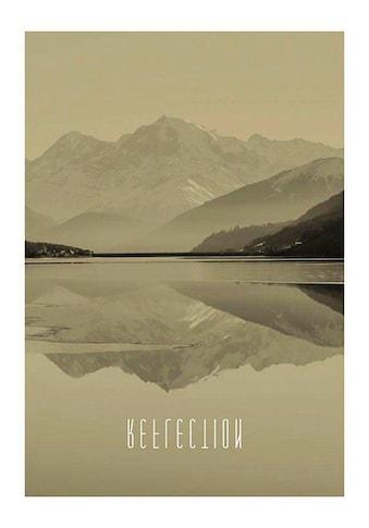 Komar Poster »Word Lake Reflection Sand«, Natur, Höhe: 40cm kaufen