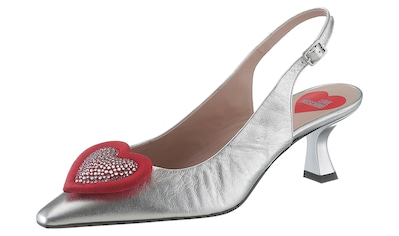 LOVE MOSCHINO Slingpumps »Padded Crystal Heart« kaufen