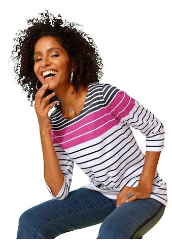 Classic Basics Shirt mit weitem Rundhals - Ausschnitt kaufen