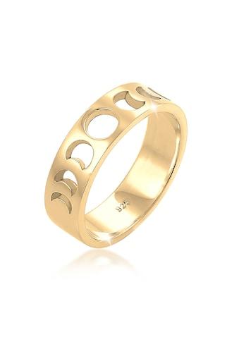 Elli Fingerring »Mond Halbmond Bandring Astro 925 Silber vergoldet« kaufen