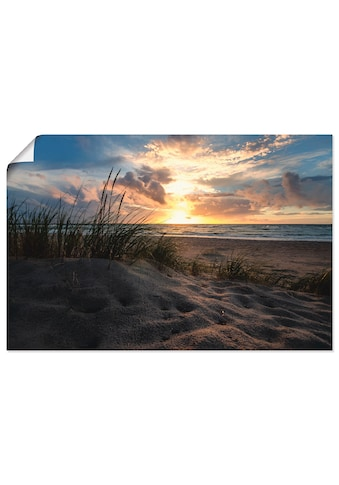 Artland Wandbild »Sonnenuntergang an der Ostsee«, Strand, (1 St.), in vielen Größen &... kaufen