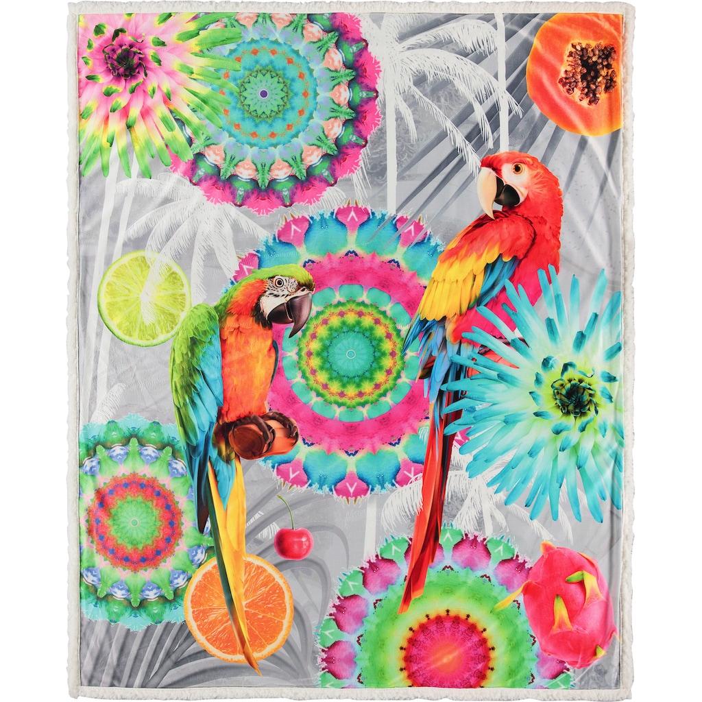 hip Plaid »Kjenta«, mit Mandalas und Papageien