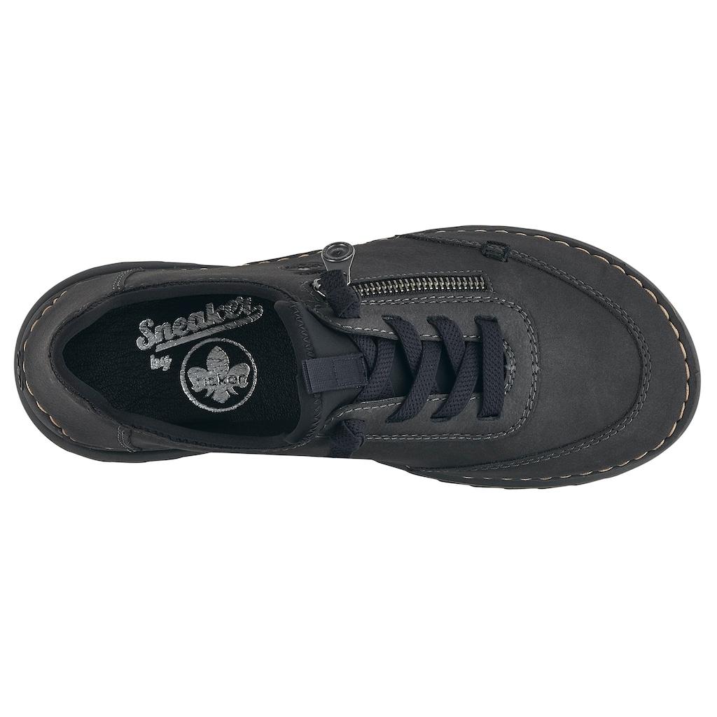 Rieker Sneaker, mit Kontrastnaht