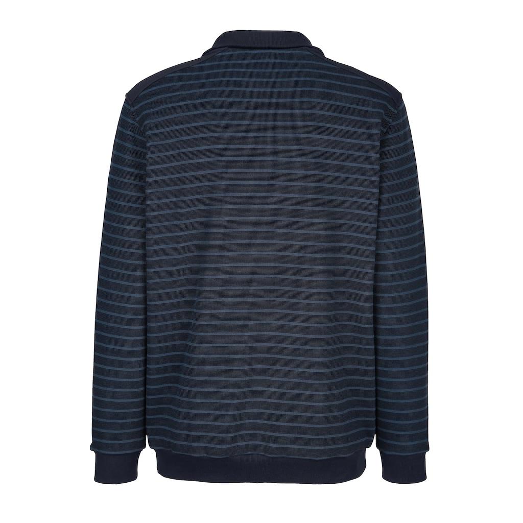 Roger Kent Sweatshirt mit Streifenmuster