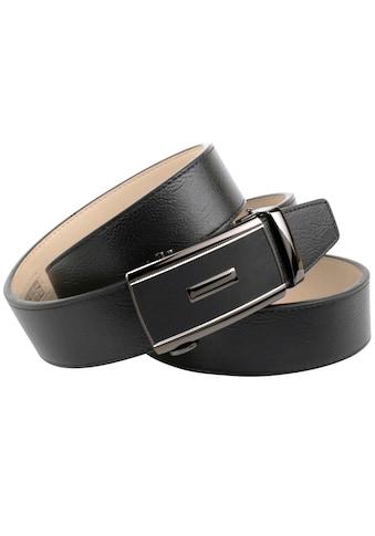 Anthoni Crown Ledergürtel, Elegante Schließe mit Oberfläche aus Hartglas kaufen