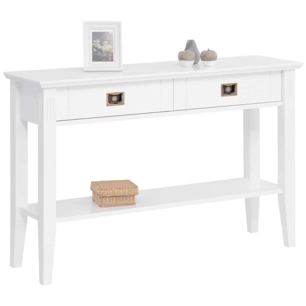 Home affaire Konsolentisch »Piano«, mit 2 Schubladen und 1 Ablageboden