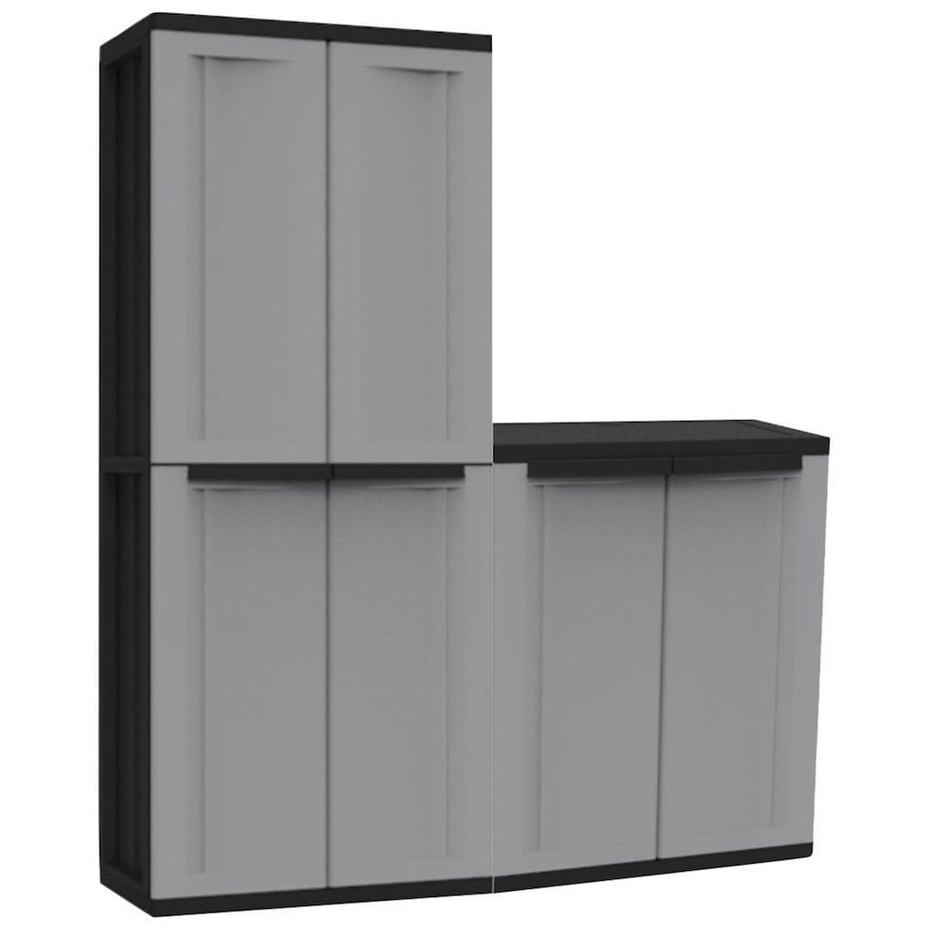 Kreher Mehrzweckschrank »J-twist«, B/T/H: 68x37,5x163,5 cm, 4 Einlegeböden, Spindfach, Kunststoff