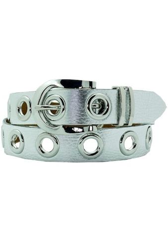 AnnaMatoni Ledergürtel, mit Ösen, Metallic-Look kaufen