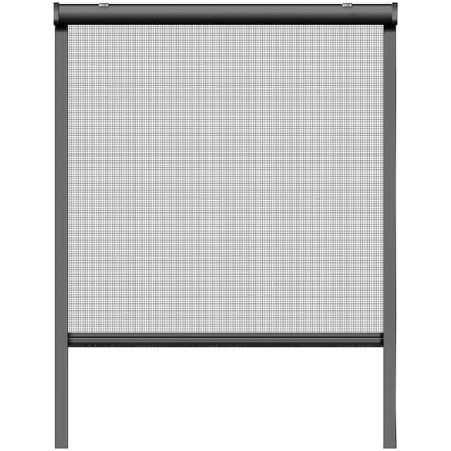 SCHELLENBERG Set: Insektenschutz-Rollo BxH: 100x160 cm, Rahmen anthrazit