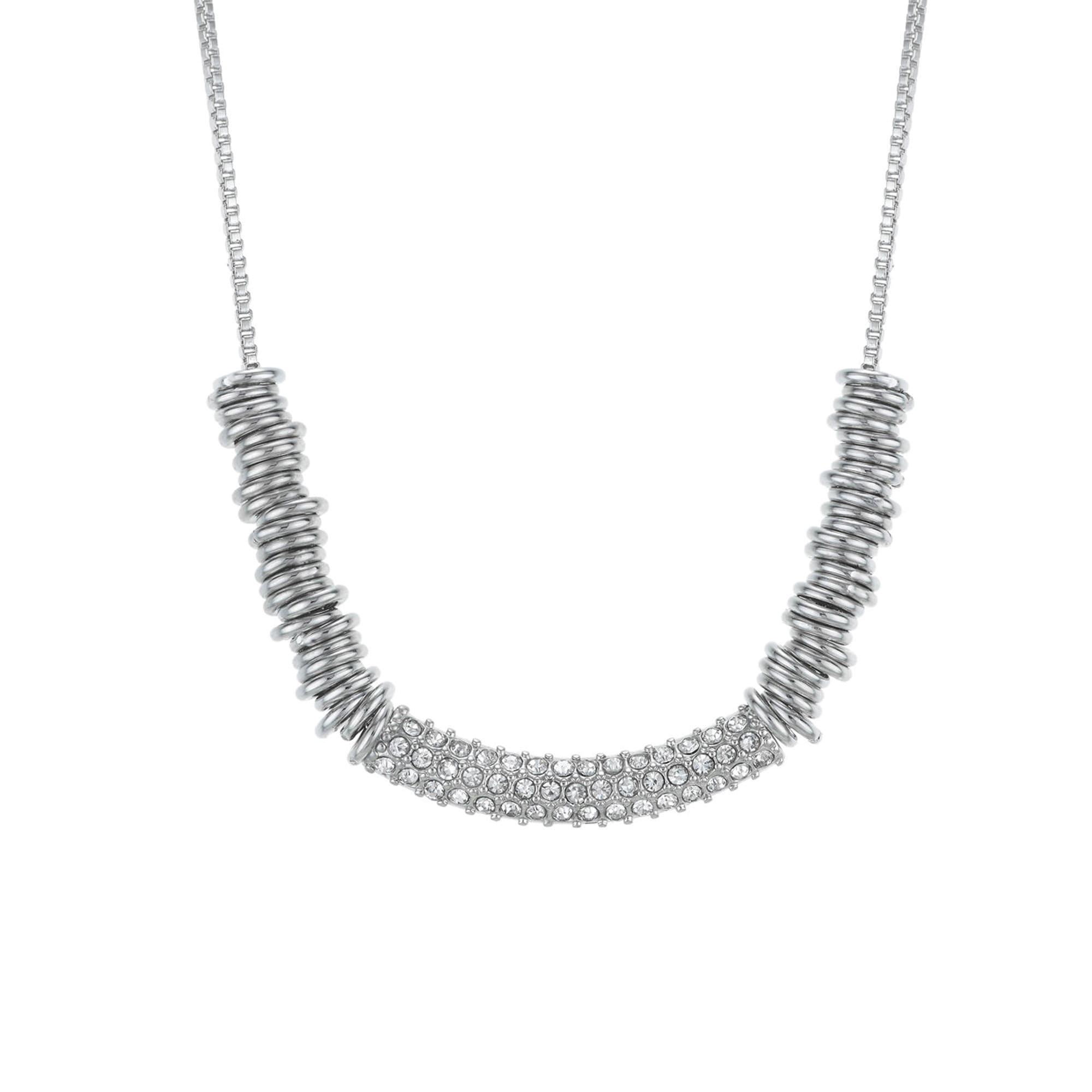 Buckley London Collier Messing rhodiniert Kristall | Schmuck > Halsketten > Colliers | Weiß | buckley london