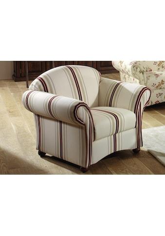 Max Winzer® Sessel »Carolina«, mit Holz-Kugelfüßen kaufen