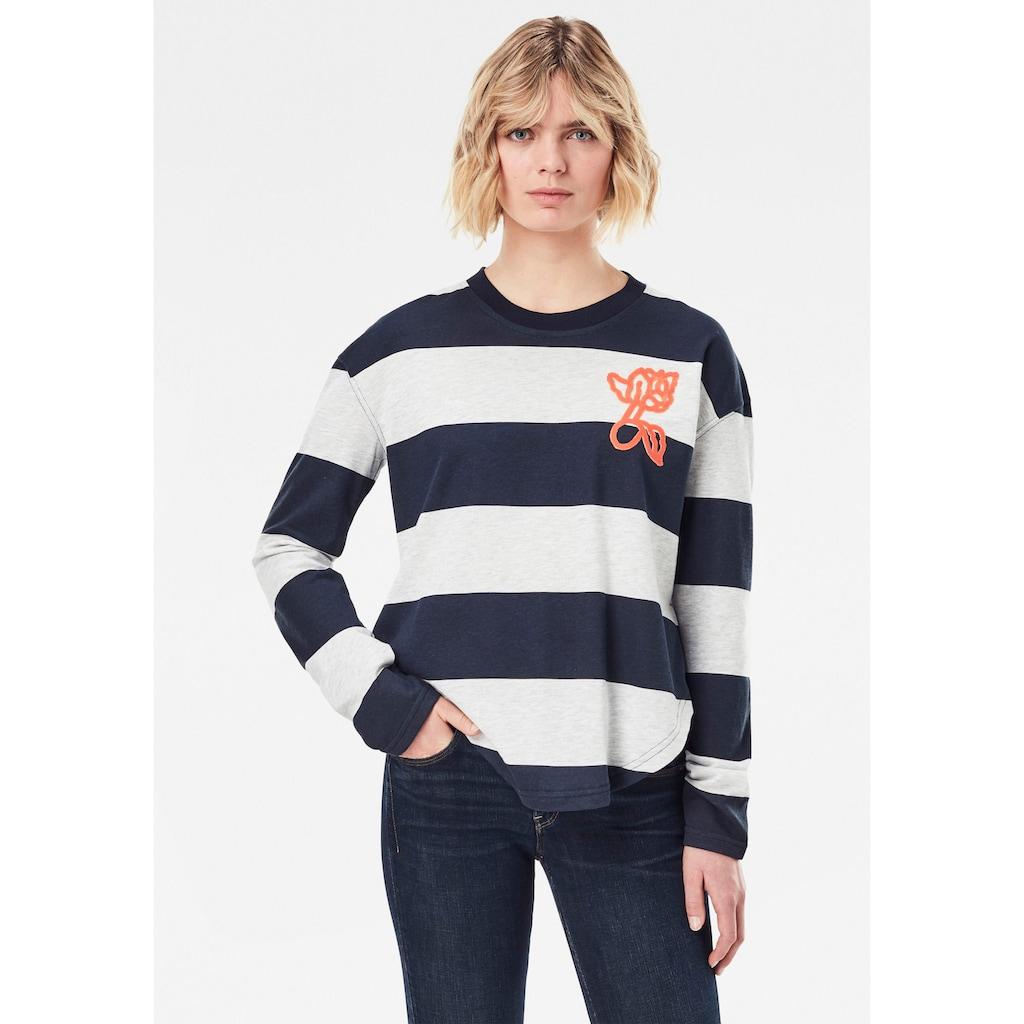 G-Star RAW Sweatshirt »Striped Tweater«, im Streifen Design mit gerippten Rundhalsausschnitt