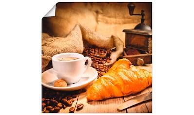 Artland Wandbild »Kaffeetasse mit Croissant« kaufen