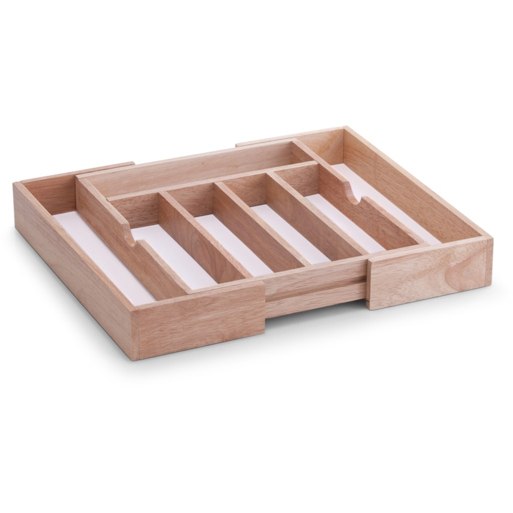 Zeller Present Besteckkasten, ausziehbar, Gummibaumholz