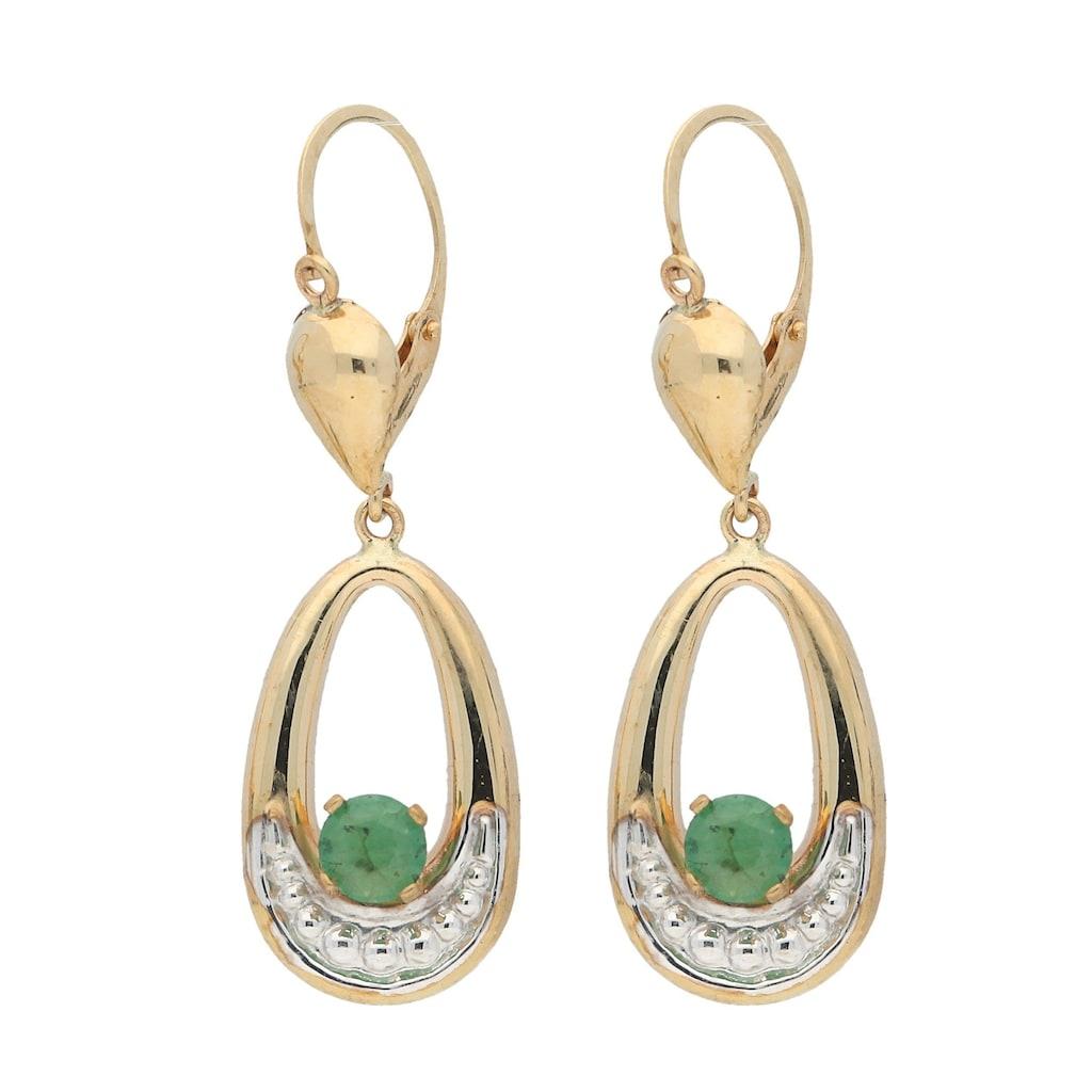 Vivance Paar Ohrhänger »Smaragd«