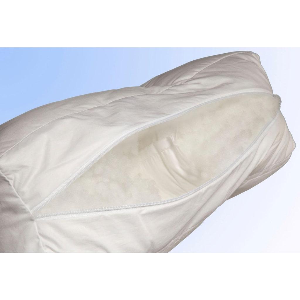 Jekatex Nackenstützkissen »Ergo«, Füllung: Comforel® Hohlfaser, Bezug: Baumwolle, (1 St.), Zertifiziert durch die Aktion gesunder Rücken (AGR) e.V.