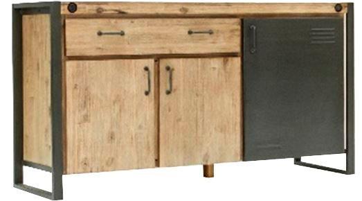 Quadrato Sideboard Forrest mit individuellem Induastrial-Touch Breite 150 cm