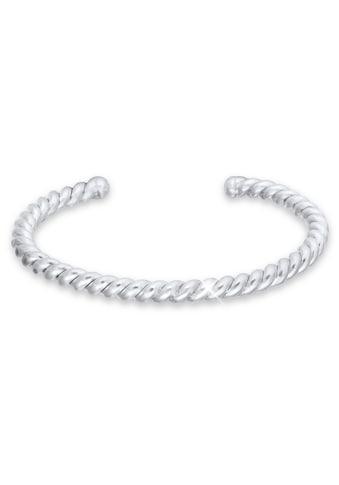 Kuzzoi Armband »Basic Bangle Gedreht Matt 925 Sterling Silber« kaufen