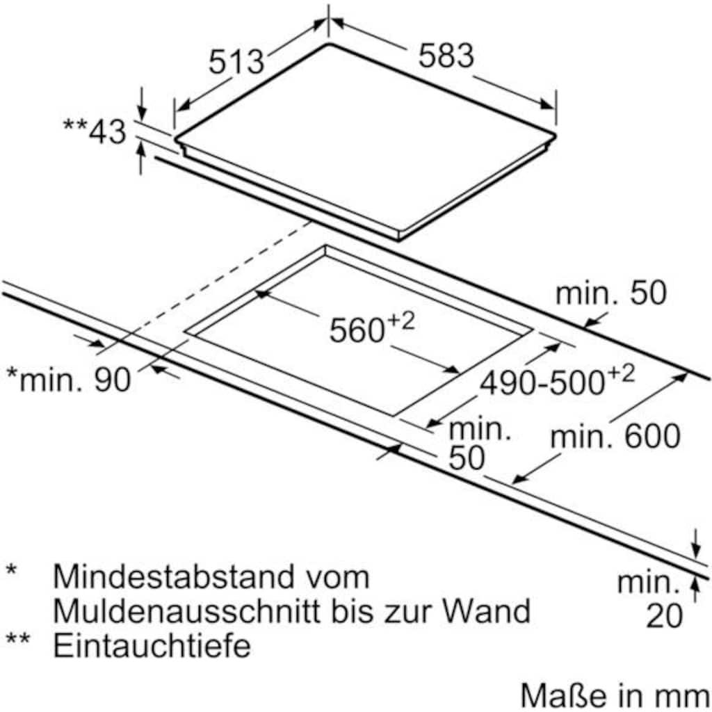 BOSCH Elektro-Herd-Set »HND411VS61«, 4, HEA513BS2, mit 2-fach-Teleskopauszug
