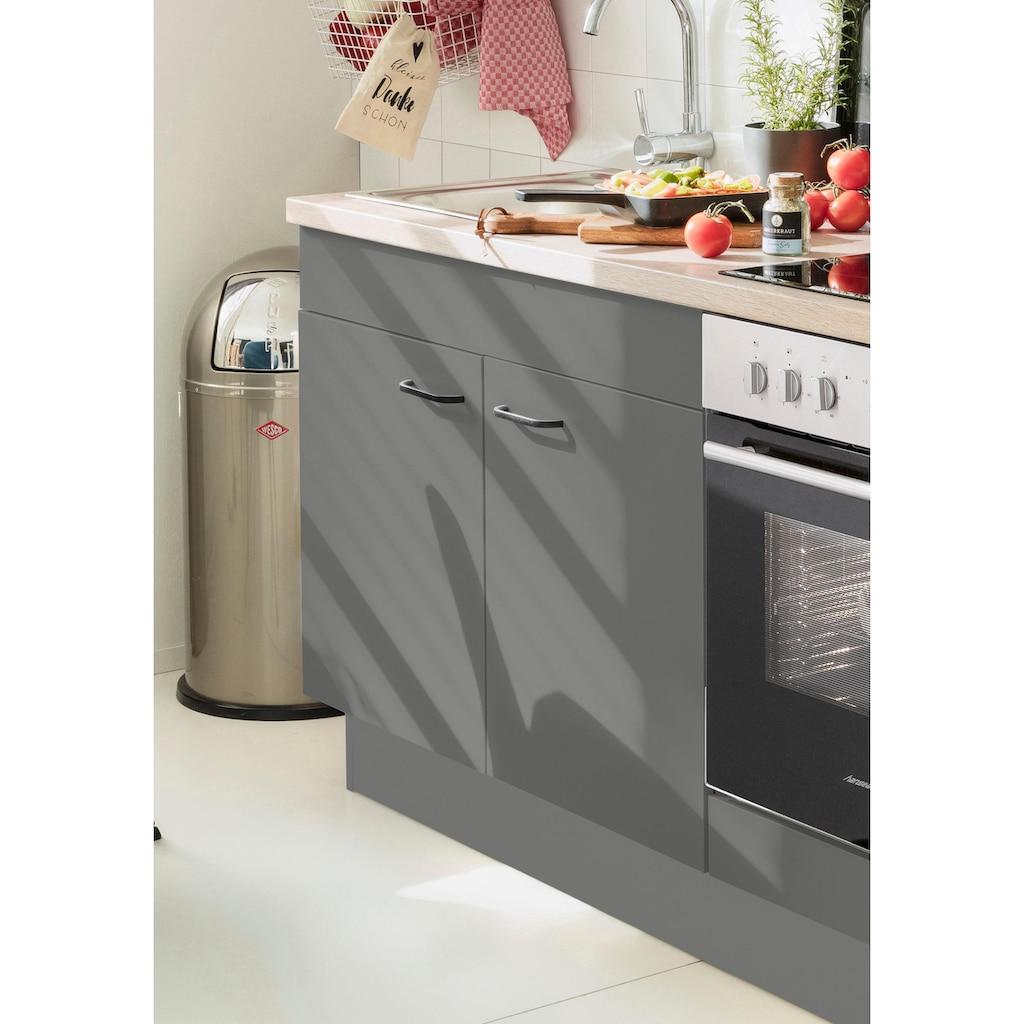 OPTIFIT Spülenschrank »Elga«, mit Soft-Close-Funktion, höhenverstellbaren Füßen und Metallgriffen, Breite 100 cm