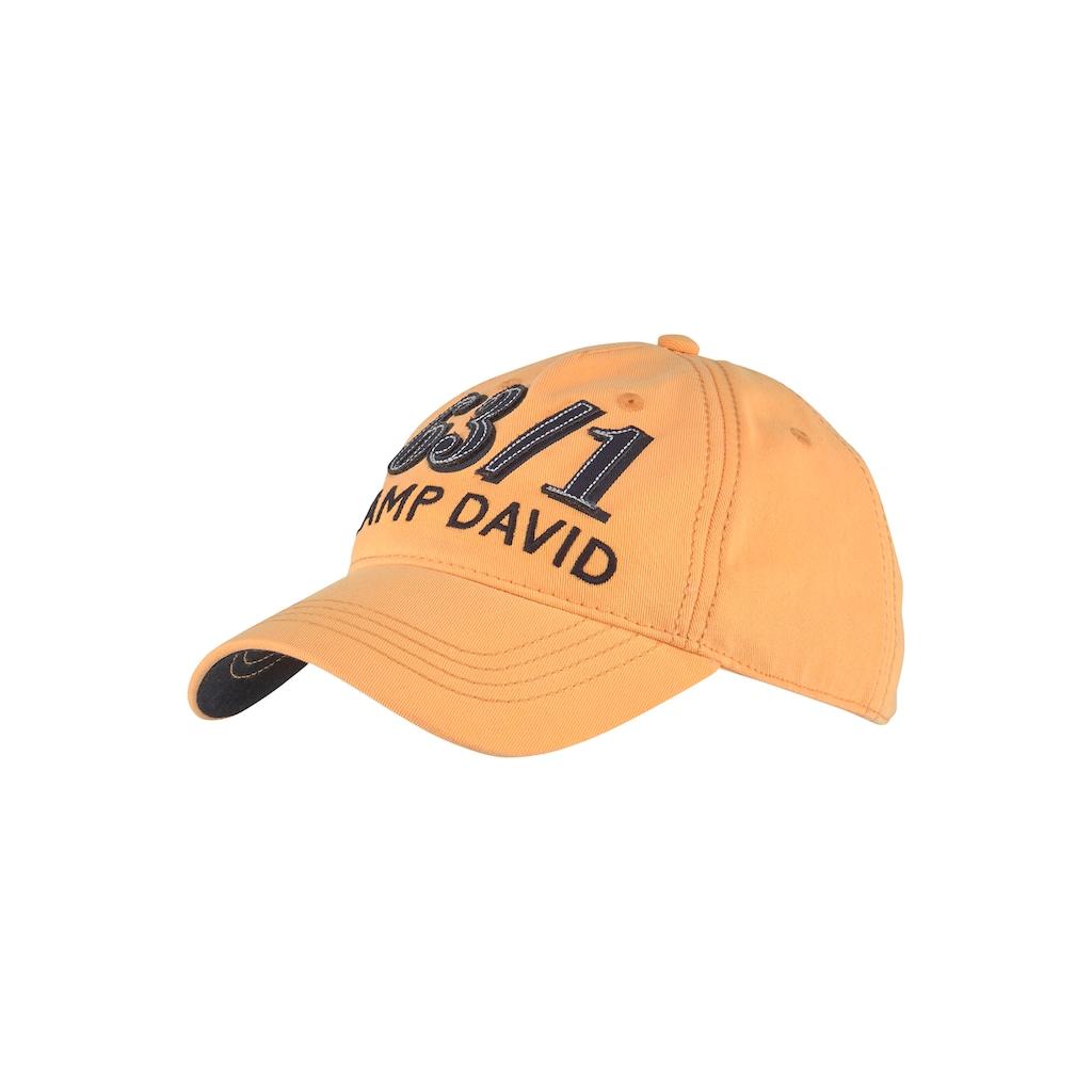 CAMP DAVID Baseball Cap, Stone washed, Baumwolle